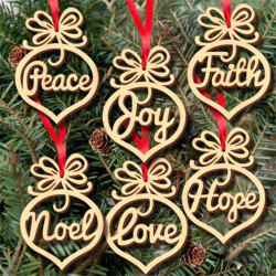 Wooden Christmas Bulbs Hollowed Out Small Pendants -