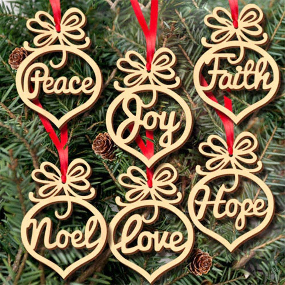 Outfits Wooden Christmas Bulbs Hollowed Out Small Pendants