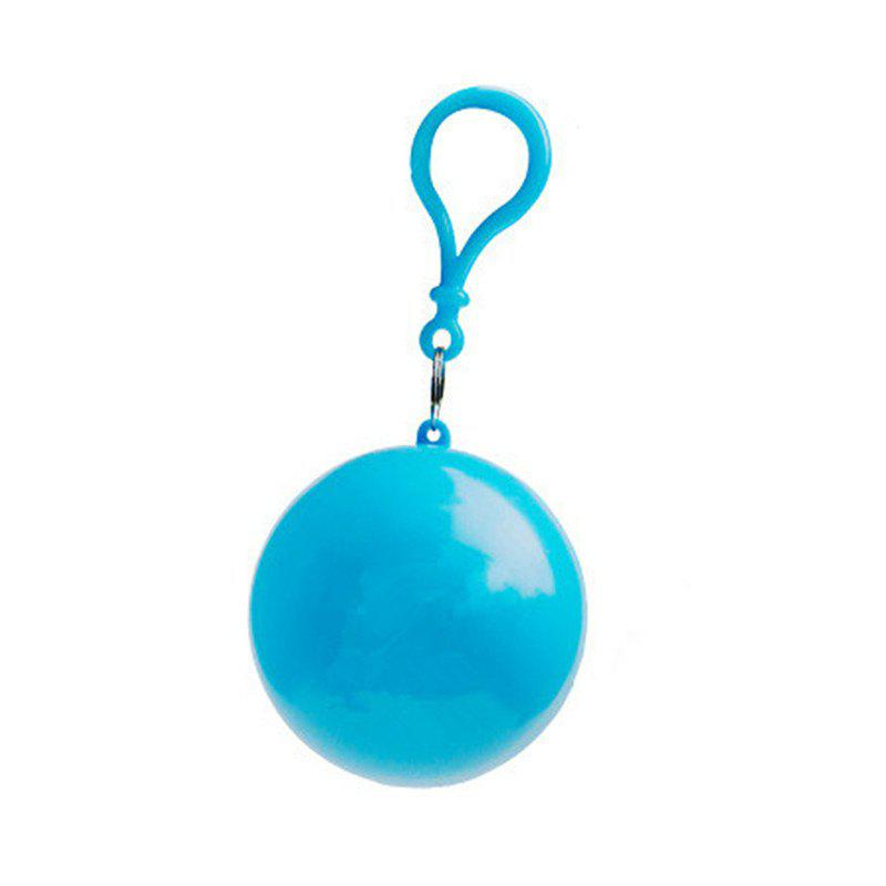 Outfits spherical Plastic Ball Keychain Portable Disposable Waterproof Rain Covers