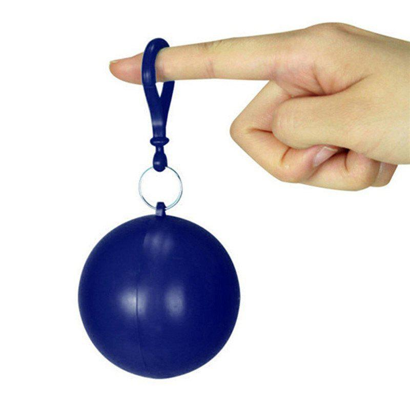 Discount spherical Plastic Ball Keychain Portable Disposable Waterproof Rain Covers