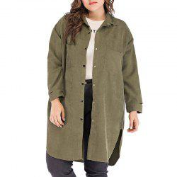 Solid Color Lapel Single Breasted Coat -
