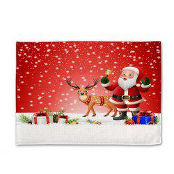 Santa Rattles Tapis de table en lin imprimé simple face numérique -