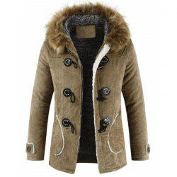 New Man Fashion Warm Lining with Nice with Hooded Long Parka Coat -