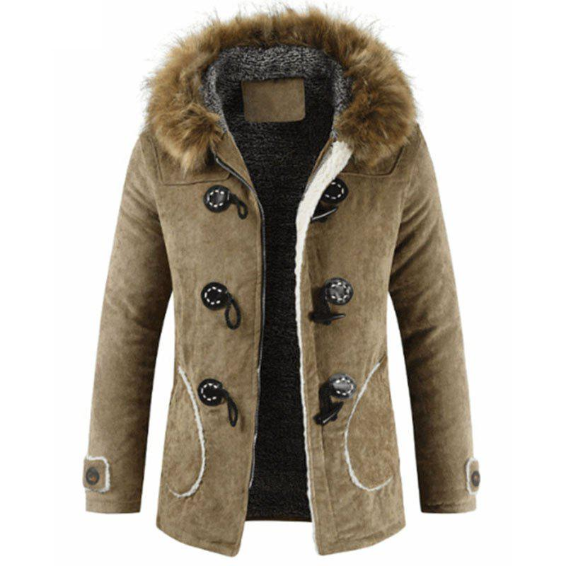 Buy New Man Fashion Warm Lining with Nice with Hooded Long Parka Coat