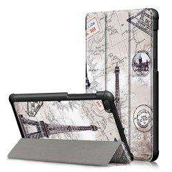 Y-Painted Three-Fold Leather Case for Lenovo Tab E7 TB-7104F -