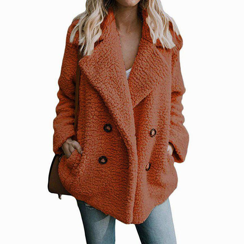Fancy Women'S Wild Fashion Double-Faced Pile Fleeced Thickness Coat