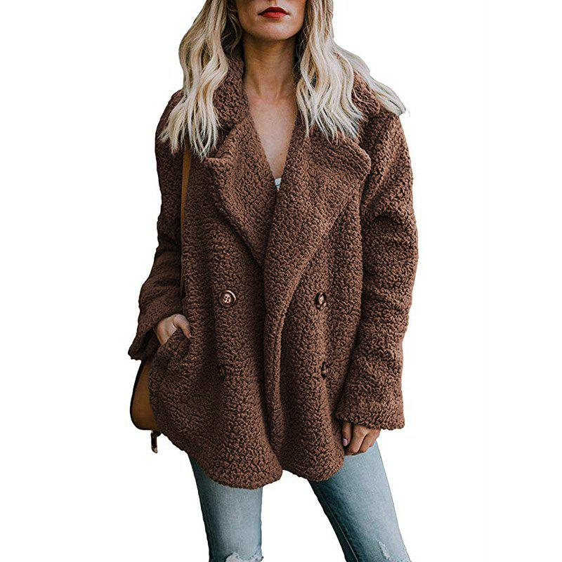 Latest Women'S Wild Fashion Double-Faced Pile Fleeced Thickness Coat