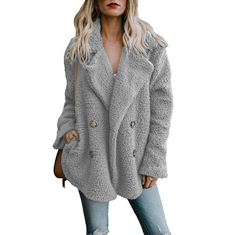 Discount Women'S Wild Fashion Double-Faced Pile Fleeced Thickness Coat
