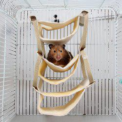 Creative Pet Cage Pegged Within Multilayer Hanging House Winter Style Keep Warm -