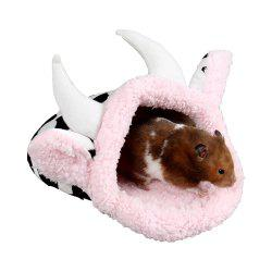 Creative Small Pet House Cotton Slippers Dairy Cow Nest Winter Style Keep Warm -