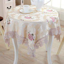 fashionable Table Decoration Cloth Art Round Tablecloth with Lace -