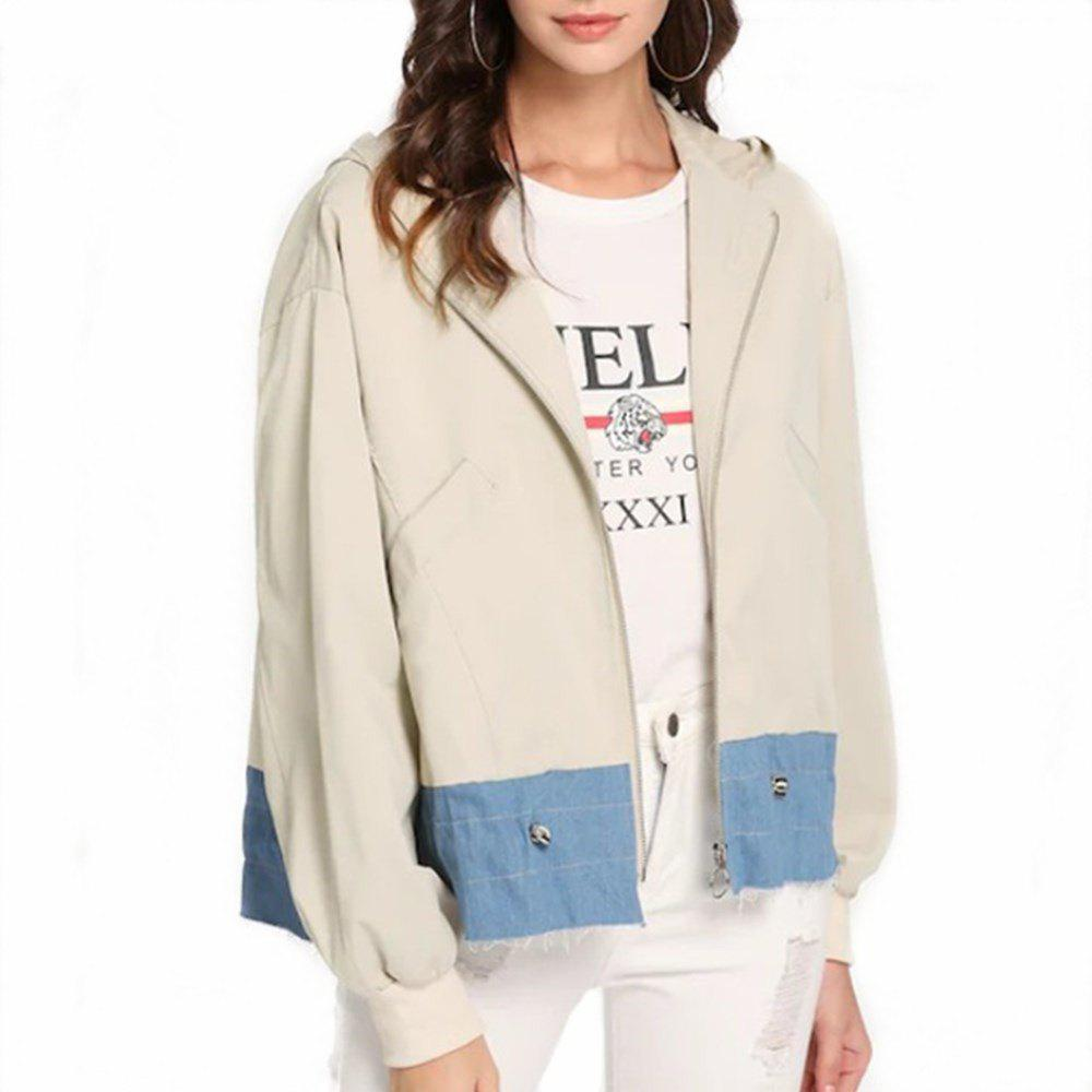 New Fashion Stitching Tightens The Leisure Women'S Jacket