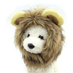 Cat Lion Headgear Dog Teddy Bear Wig Jewelry -