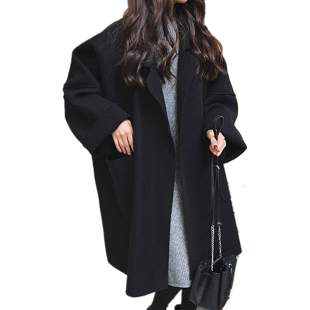 Sale Long Loose Woolen Cloth Coat in Autumn and Winter