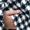 Women's Coat Loose Houndstooth Pocket Outerwear -