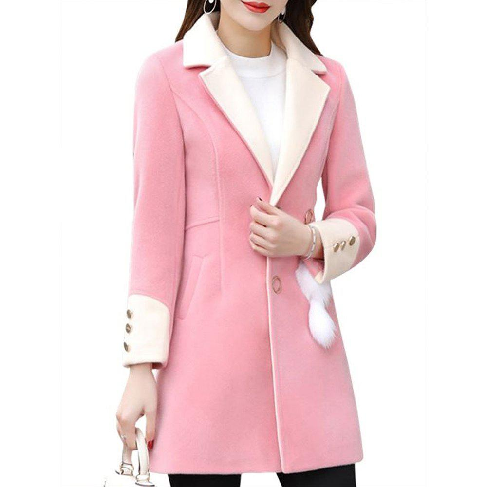 Outfit Women's Blend Thicken Long Sleeve Button Coat