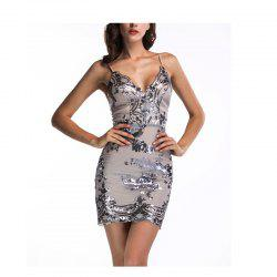 Sling Sequins Dress Women Bodycon Sexy Sleeveless Backless -