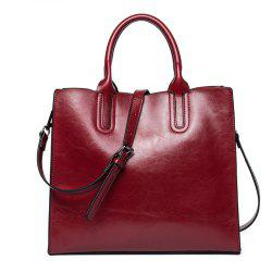 Business and Leisure Women'S Bag Cowhide Lady Handbag -