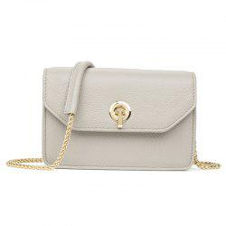 Head Layer Cowhide Lady Chain Small Package Sweet Lady Single Shoulder Bag -