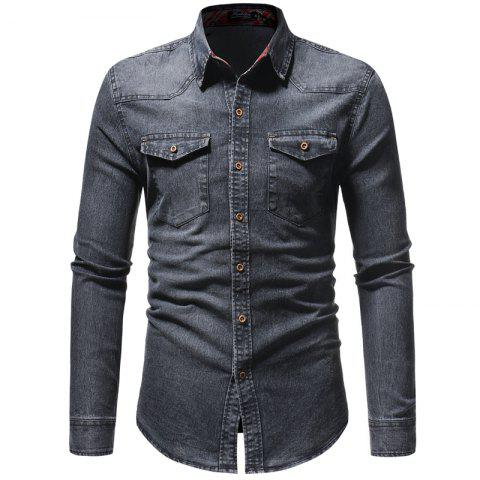 Men'S Leisure Jeans Bag Shirt