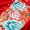 UILY Chinese Cheongsam Veloue Embroidered Long Velour Loose Dress -