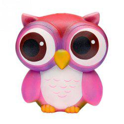 Squishies Slow Rising Jumbo Kawaii Colorful Owl Creamy Scent for Kids -