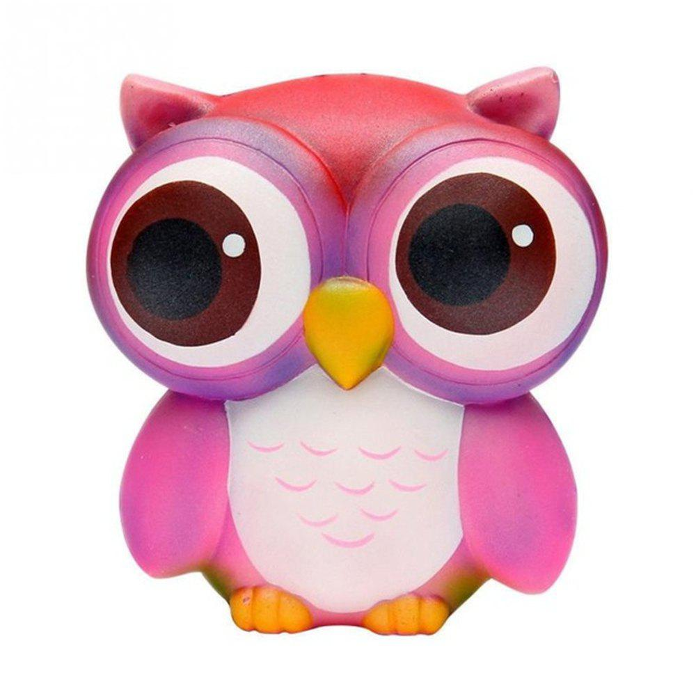 Discount Squishies Slow Rising Jumbo Kawaii Colorful Owl Creamy Scent for Kids