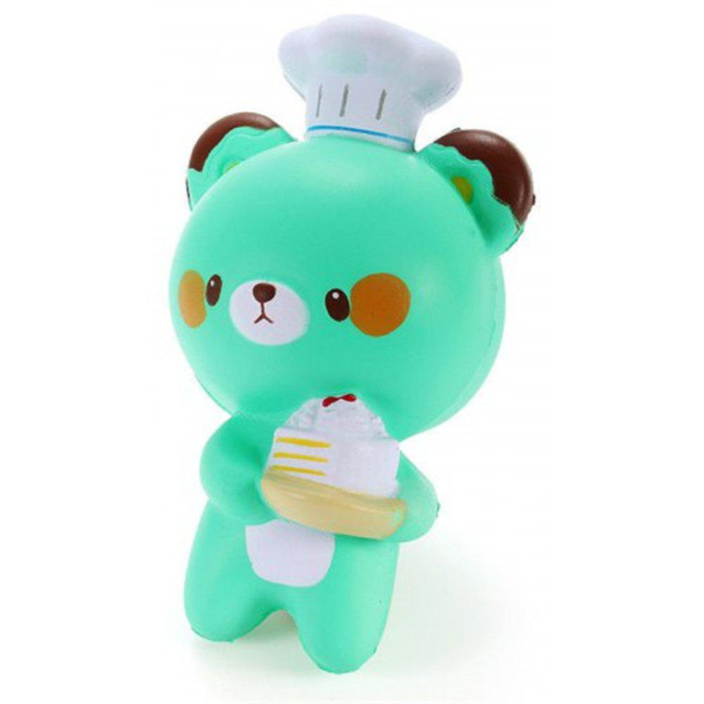 Jumbo Squishy Cartoon Chef Bear Slow Rising Collection Украшение игрушки