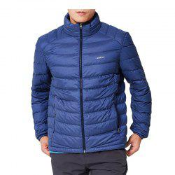 HUMTTO Men's Down Jacket Winter Duck Down Ultra Light Stand-Collar Cardigan Coat -