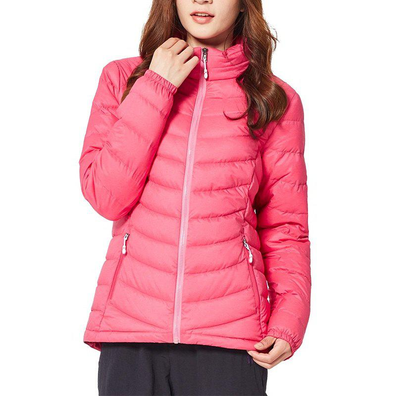 Unique HUMTTO Women Down Jacket Winter Duck Down Ultra Light Stand-Collar Cardigan Coat