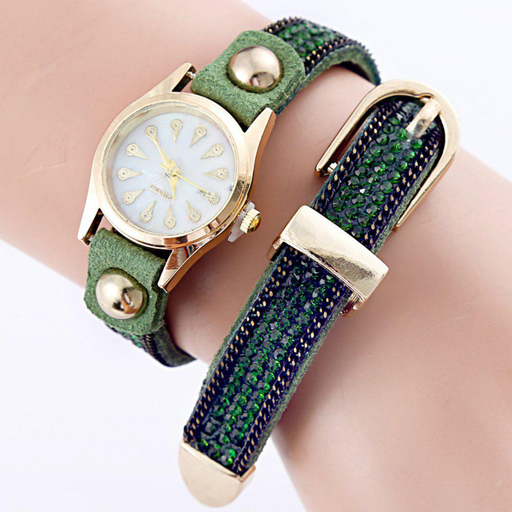 Women Fashionable Diamond - Encrusted Quartz Bracelet Watch