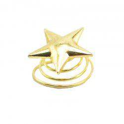 1PC Star Style Hairpin Simple Spiral Clip Hair Decoration -