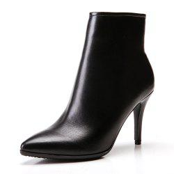 High-Heeled Pointed Stiletto with Simple Bare Boots -