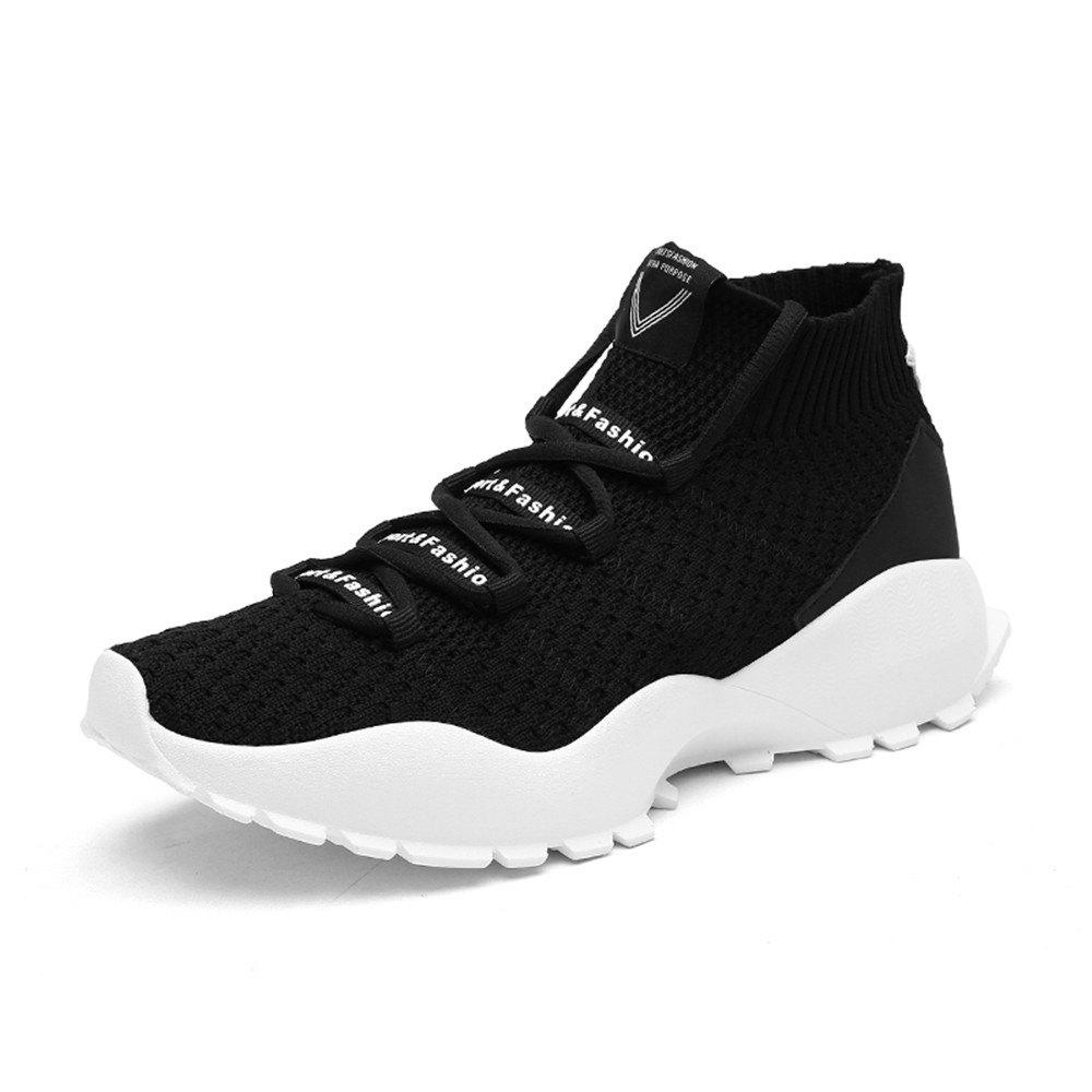 Trendy Men'S Fashion Flying-Knitted High Socks Leisure Sports Shoes