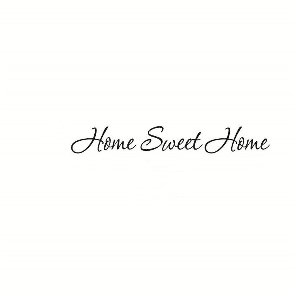 Home Sweet Home Art Vinyl Mural Home Room Decor Wall Stickers