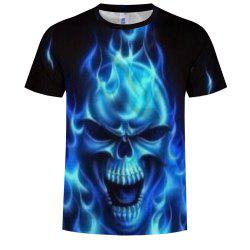3D Fashion Men's Print Ghost Shadow Skull T-Shirt -