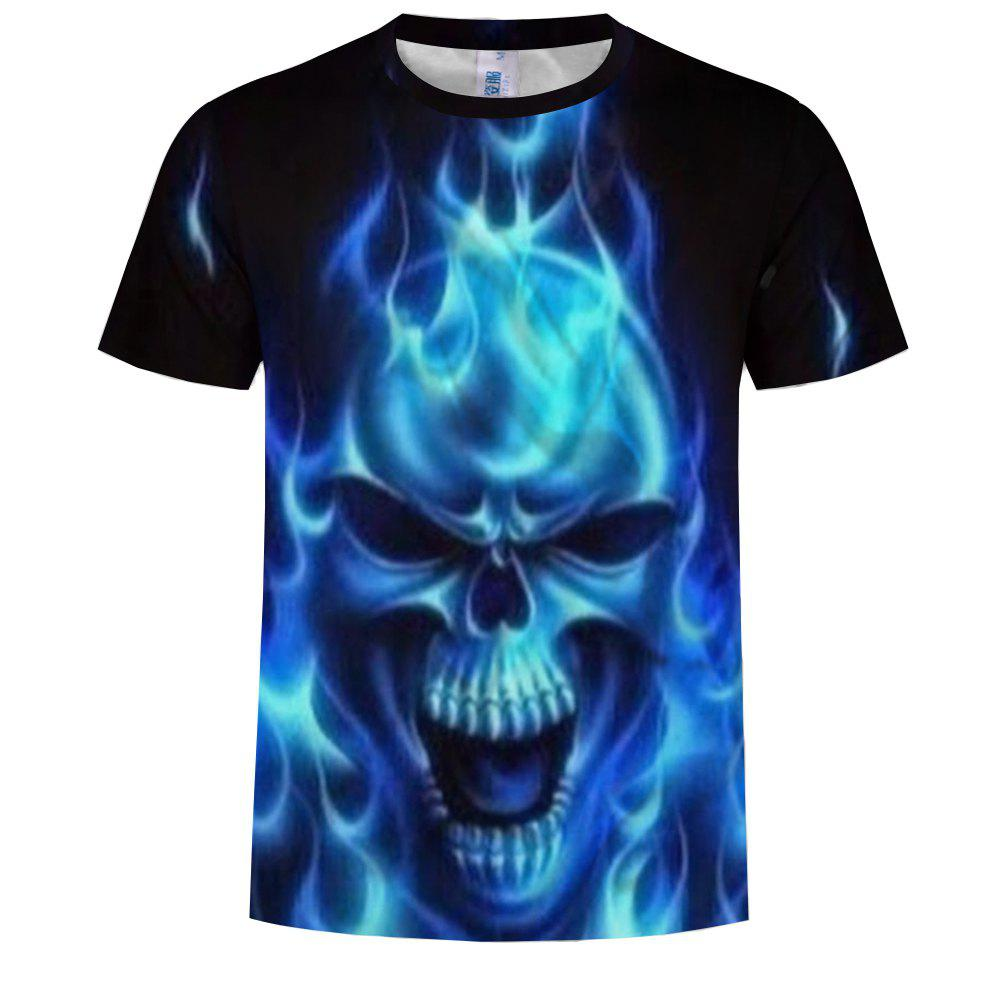Online 3D Fashion Men's Print Ghost Shadow Skull T-Shirt