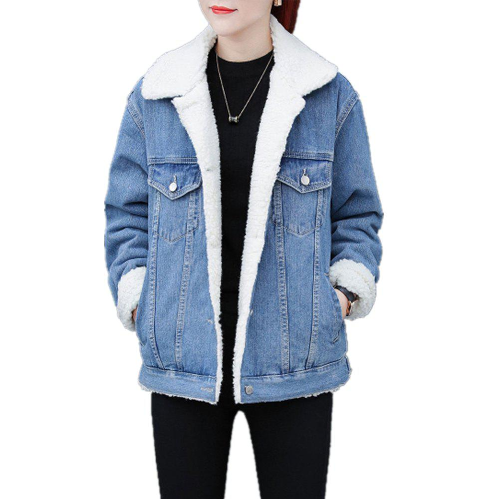 Outfits Women's Coat Button Thicken Pocket Coat