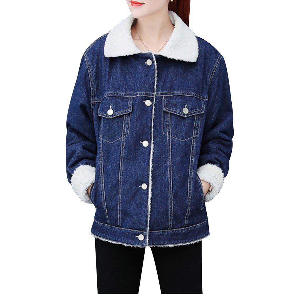 Fancy Women's Coat Button Thicken Pocket Coat