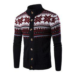 Christmas Men's Single-breasted Bottom-knitted Cardigan -