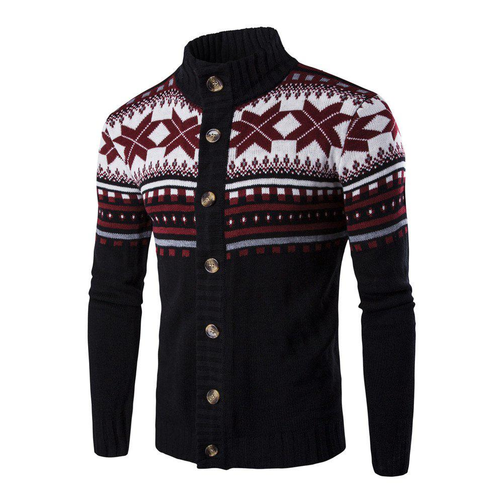 Outfit Christmas Men's Single-breasted Bottom-knitted Cardigan