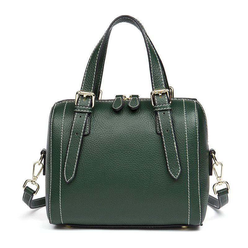 Online Stylish Cavities Head Layer Cowhide Lady Handbag Style