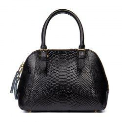 New Boa Pattern Leather Handbag European and American Fashion Handbags -