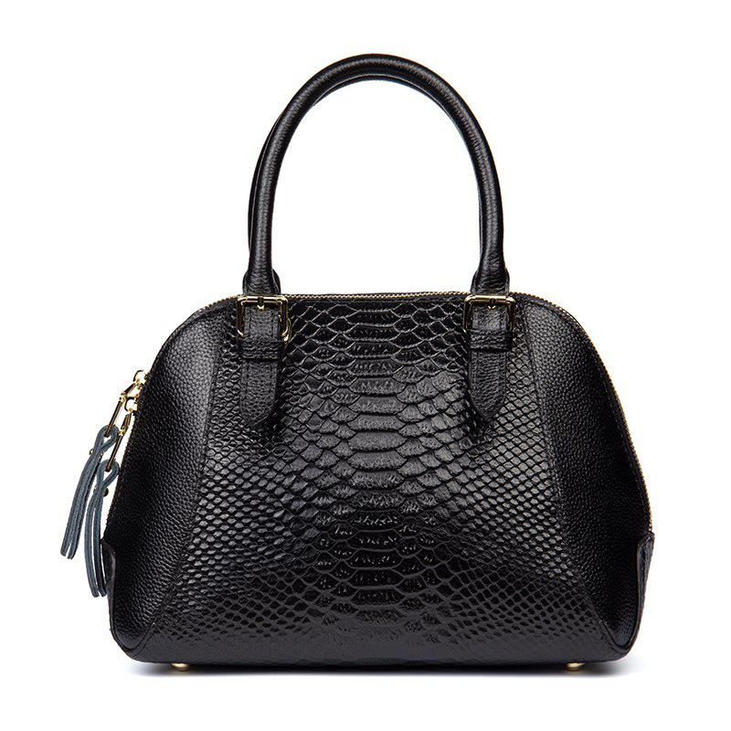 Fancy New Boa Pattern Leather Handbag European and American Fashion Handbags