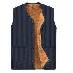 Fashion Men'S Warm Padded Vest Men'S Cotton Vest -