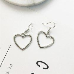 European Style Fashion Hollow Heart Shape Sweet Earrings -