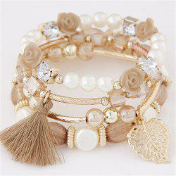 European Style Fashion Metal Crystal Beaded Multi-Layer Bracelets -