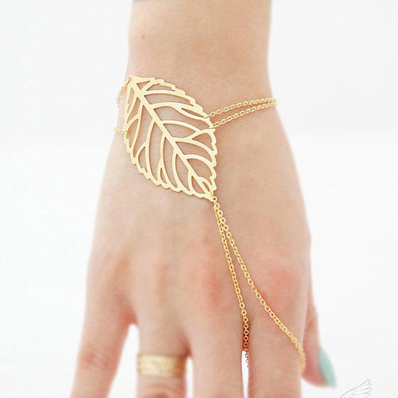 Outfit European Style Fashion Simple Leaf Bracelet with Ring