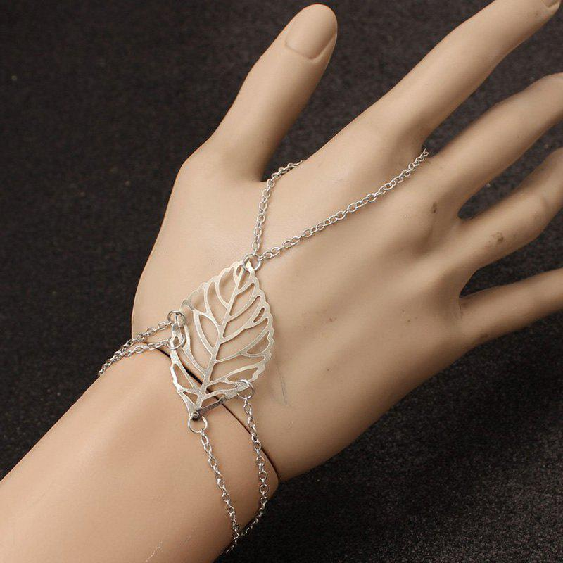 Latest European Style Fashion Simple Leaf Bracelet with Ring