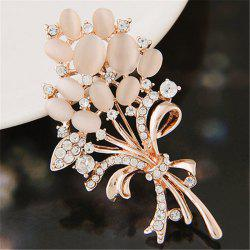 European Style Fashion Exquisite Shiny Rhinestone Flower Brooch -